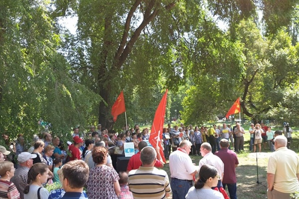 Участники митинга против вони в Воронеже одобрили общественный контроль за деятельностью ЛОС