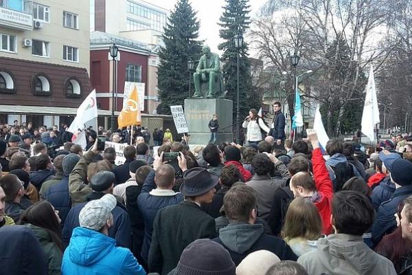Начальник полиции предложил немного урезать свободу собраний в Воронеже