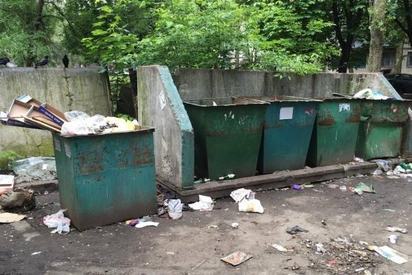 В Воронеже из-за припаркованных авто мусоровозы не могут подъехать к контейнерам