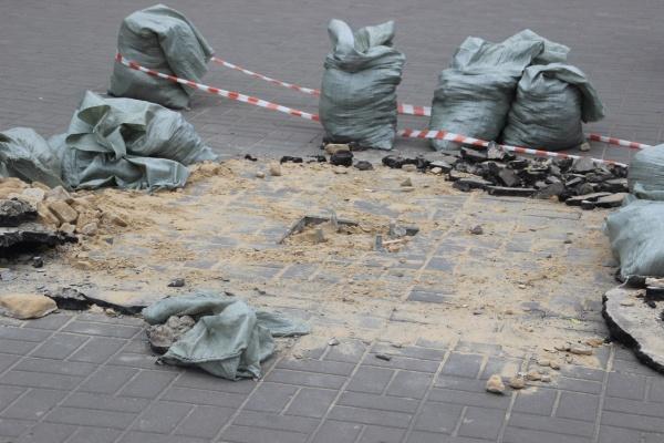 В Воронеже на тротуары и бордюры потратят 13 млн рублей