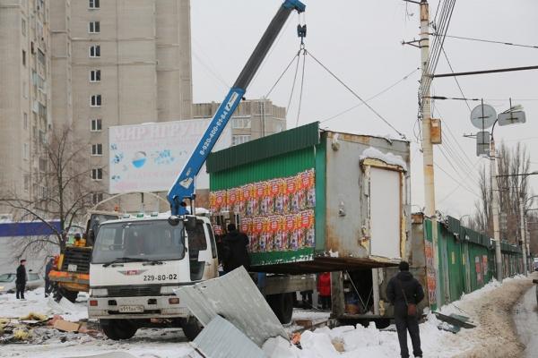 Власти Воронежа в течение года запланировали демонтировать более шестисот ларьков