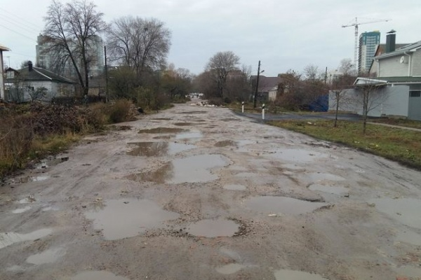 Воронежская улица попала в рейтинг с самыми плохими дорогами