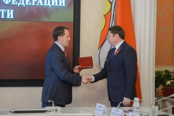 Воронежского ректора наградили медалью ордена