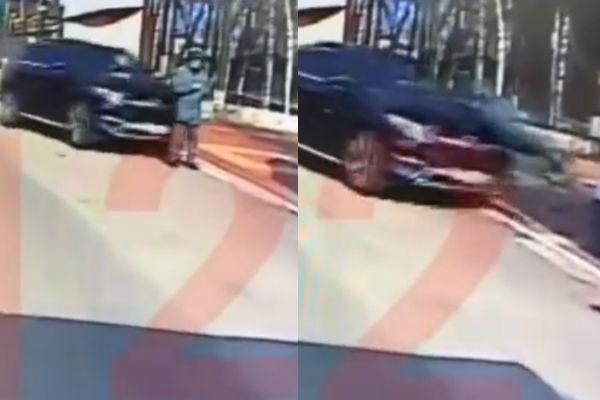 Водитель Mercedes попал под следствие за попытку задавить воронежского курсанта