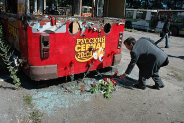 В Воронеже троллейбус похоронят во второй раз