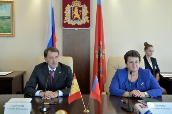 Воронежский губернатор подружился с коллегой из Владимира