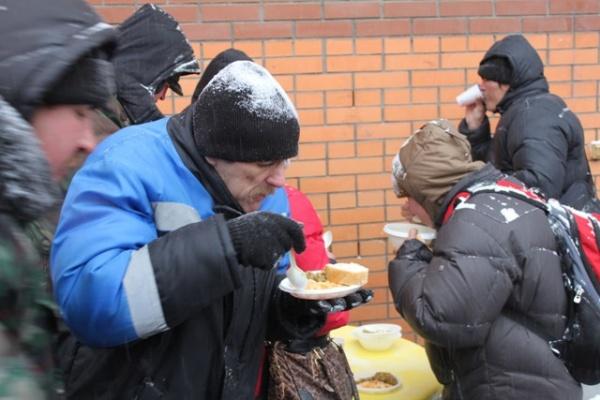 Волонтеры призывают воронежцев покормить под Новый год бездомных