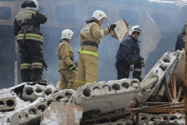 Спасатели закончили разбор завалов на месте взрыва в Воронеже