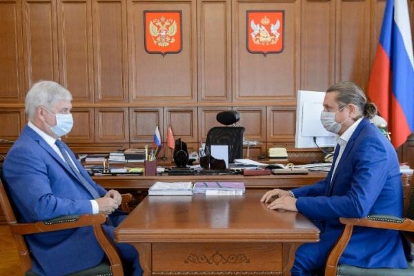 Глава Воронежской области встретился с депутатом Госдумы Сергеем Чижовым