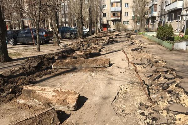 В Воронеже приступили к благоустройству дворов
