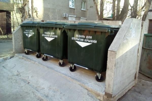 В Воронеж завезли евроконтейнеры для мусора