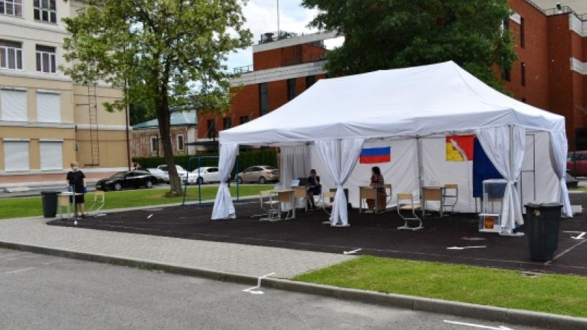 Воронежцам показали избирательный участок на голосованиях по Конституции
