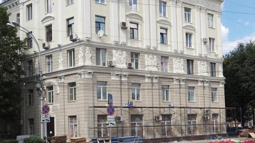 В Воронеже восстанавливают архитектурный декор при капремонте