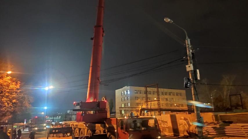 В Воронеже закрыли на реконструкцию виадук на Ленина