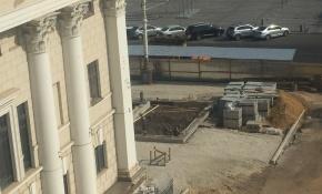 В Воронеже работы по благоустройству сквера у оперного театра продлятся дольше запланированного срока