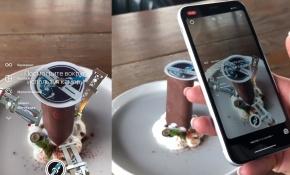 В Воронеже десерт запустили в космос с помощью дополненной реальности